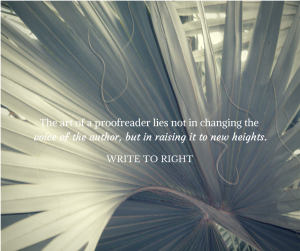 Write to Right - The art of a proofreader