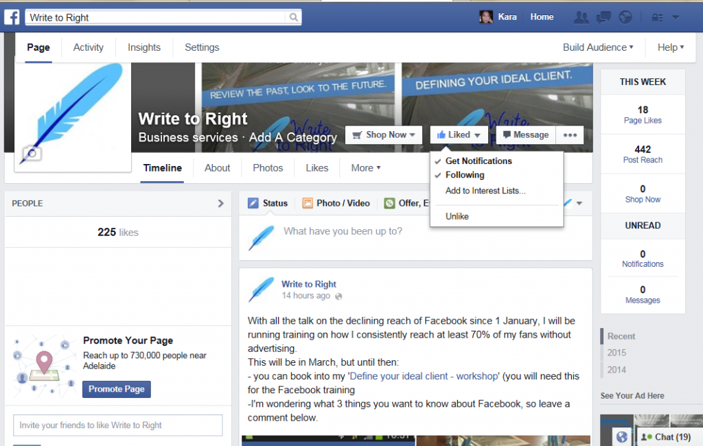 Steps to creating easy Facebook content