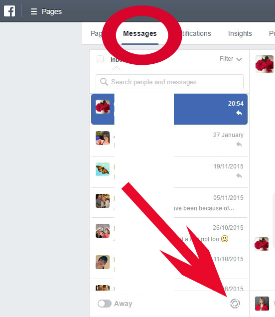 pages messenger