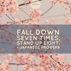 fall down seven times quote japanese proverb kara lambert business coach