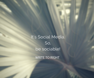 The key to social media is being social