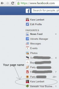 Finding your Facebook Business Page