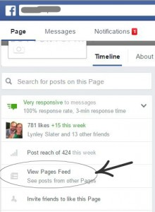 Find your Facebook Page News Feed