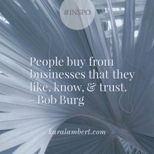 Bob Burg Like know trust