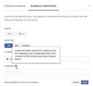 Target Facebook Posts