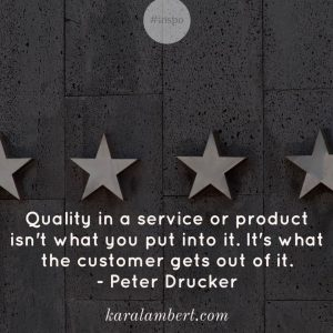 Pricing and Quality Peter Drucker Quote Kara Lambert Business Psychology Pricing Psychology