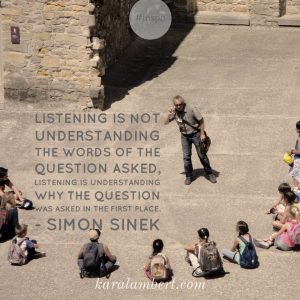 listen quote simon sinek