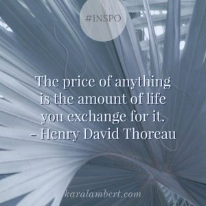 pricing quote Thoreau Kara Lambert Business coach