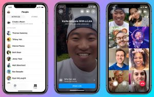Facebook Messenger Rooms video chat mobile