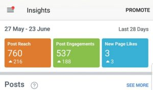 Facebook Organic reach results