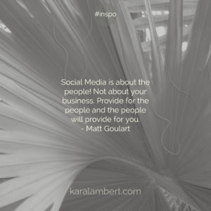 Matt Goulart Quote human centred social media Kara Lambert social media marketing coach psychology