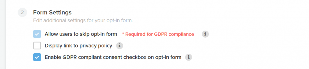 GDPR compliance for Interact quiz builder