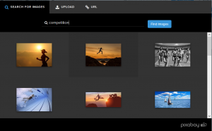 Interact quiz builder has stock images