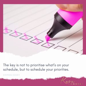 Fear of wasting time and prioritizing quote Stephen Covey