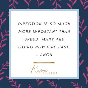 Quote about having clear direction in business