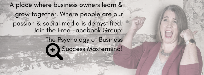 Join the Psychology of Business Success Facebook Group