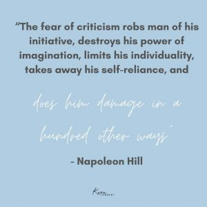 fear of criticism in business quote