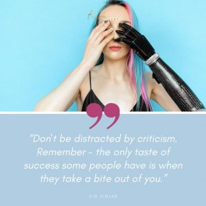 fear of criticism quote