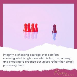 integrity and values in small business quote