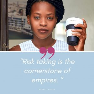 risk taking small business estee lauder quote