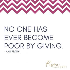 Generosity quote ann frank small business