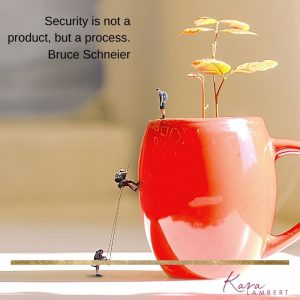 Feeling secure in small business quote