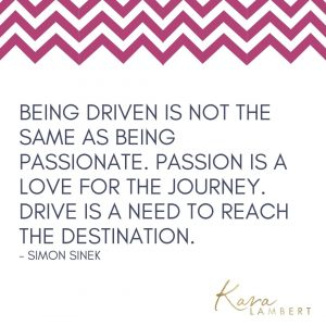 Simon Sinek quote about being driven