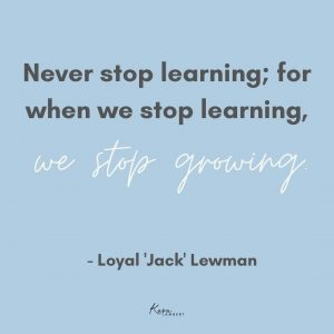 continuing education small business Jack Lewman quote