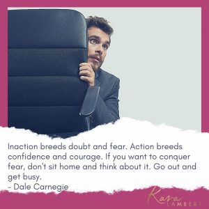 Fear of not making enough money Dale Carnegie quote