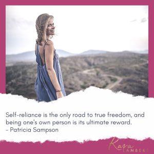 Self-reliance quote Patricia Sampson