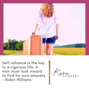 Self-reliance quote Robin Williams
