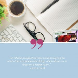 simon sinek infitie game business quote