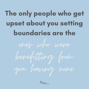 Put in client boundaries quote